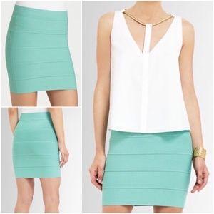 BCBGMaxAzria Simone Bandage Skirt in Lt Aqua {B}